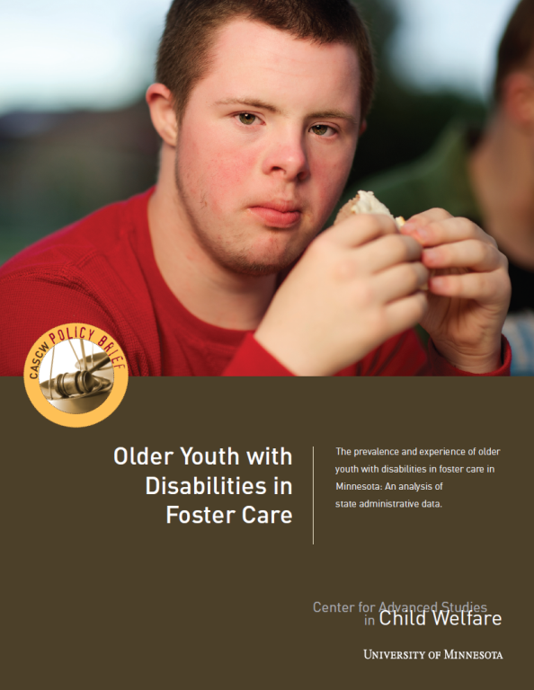 Disabilities policy brief cover