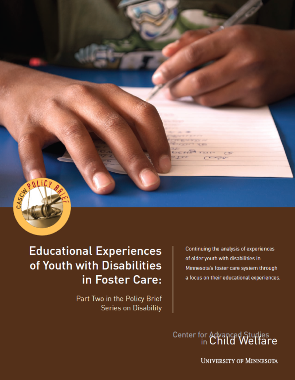 Disabilities and education policy brief cover
