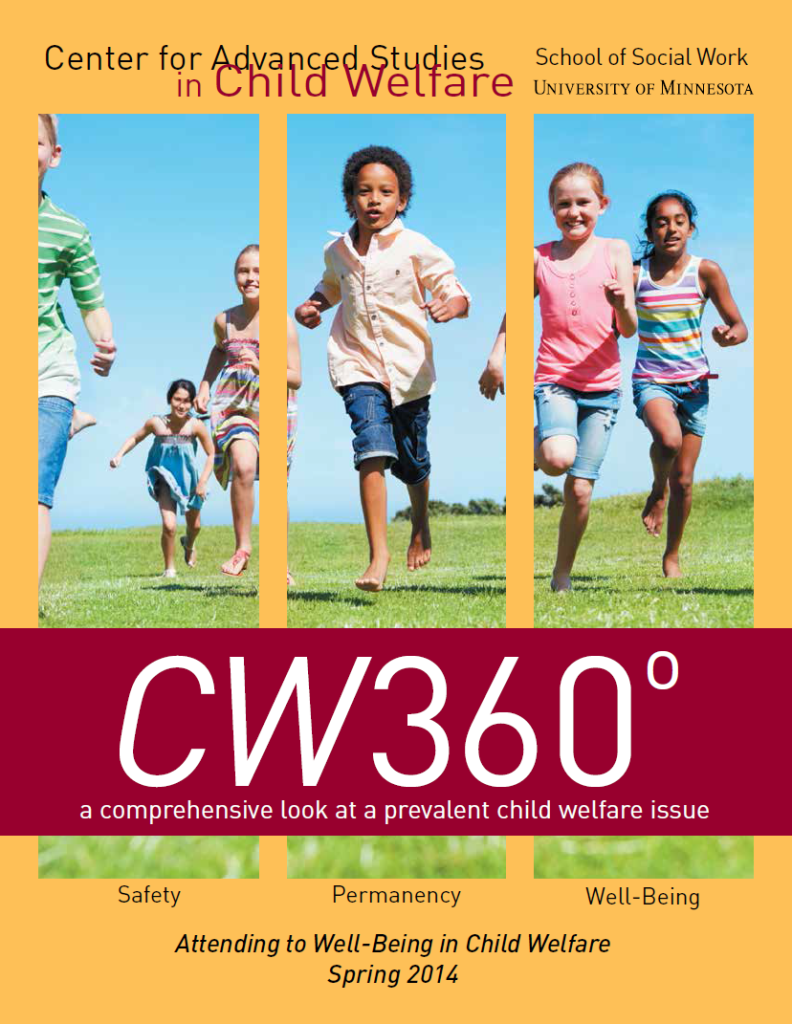 Cover of Spring 2014 CW360 - several children running in short grass
