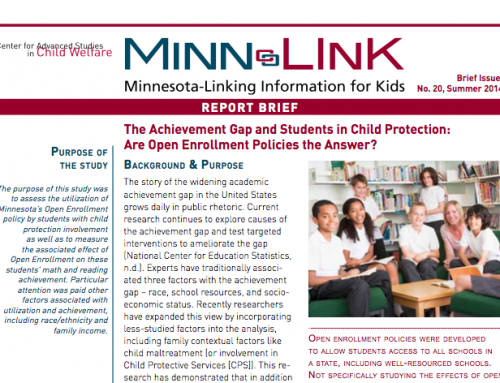 The Achievement Gap and Students in Child Protection: Are Open Enrollment Policies the Answer? (ML #20)