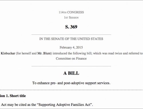 New federal legislation authored by Sen. Klobuchar promotes pre- and post-adoption supports