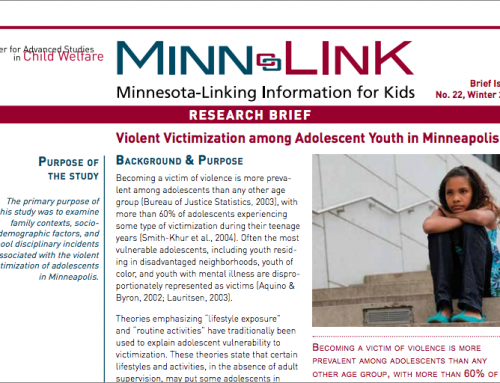 Violent Victimization Among Adolescent Youth in Minneapolis (ML #22)