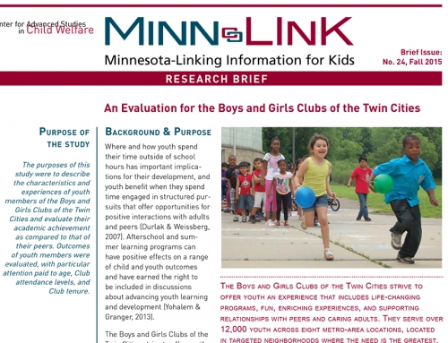 An Evaluation for the Boys and Girls Clubs of the Twin Cities (ML #24)