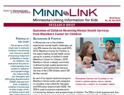 Outcomes of Children Receiving Mental Health Services  from Washburn Center for Children (ML #25)