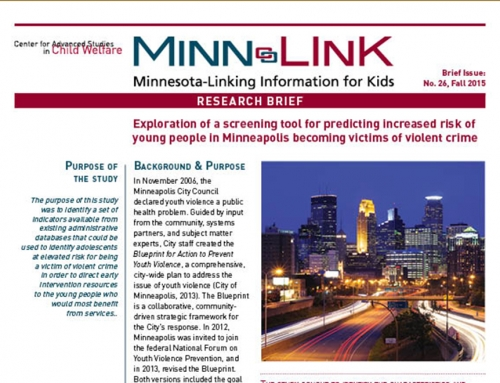 Exploration of a screening tool for predicting increased risk of young people in Minneapolis becoming victims of violent crime (ML #26)