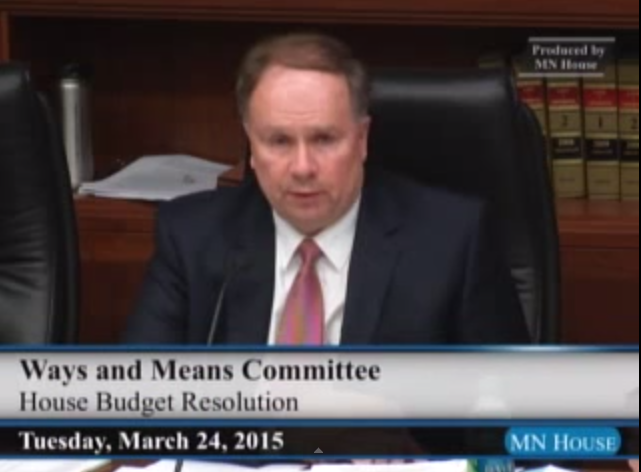 Screenshot of Rep. Knoblach during Budget Resolution meeting
