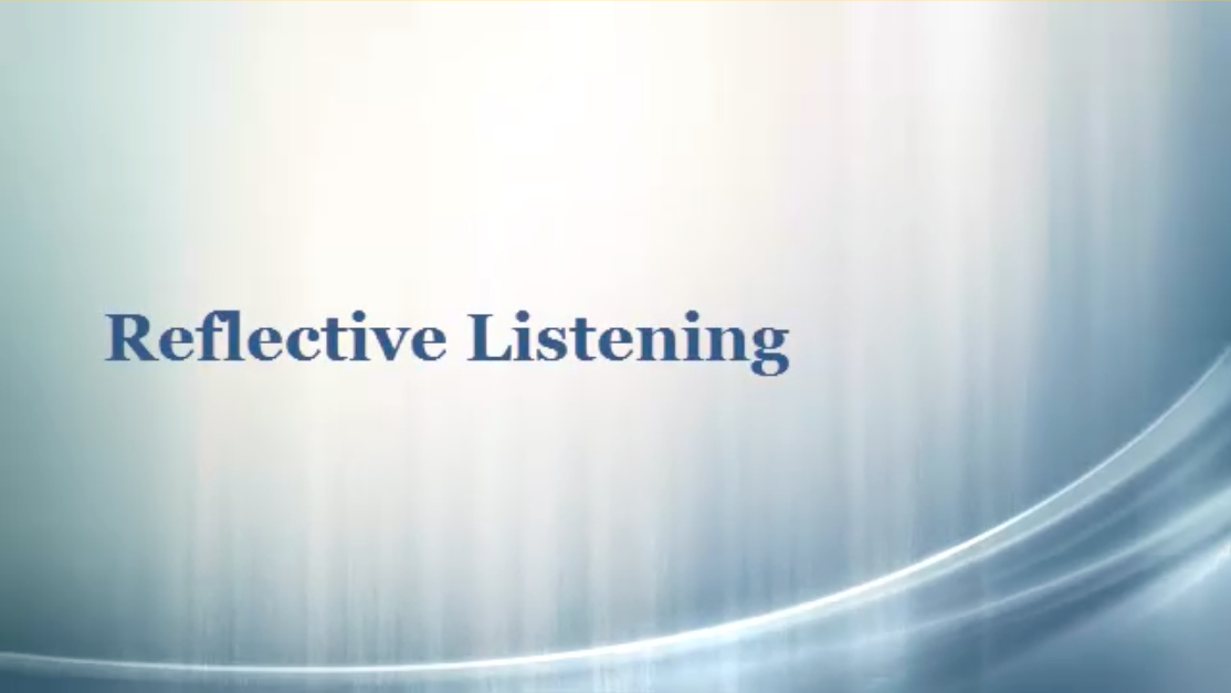reflective listening Active listening is a communication technique that is used in counseling, training, and conflict resolutionit requires that the listener fully concentrate, understand, respond and then remember what is being said.