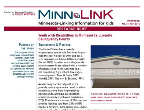 Youth with Disabilities in Minnesota's Juvenile  Delinquency Courts (ML#31)