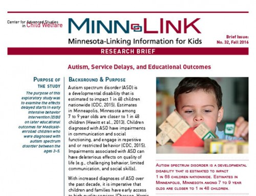 Autism, Service Delays, and Educational Outcomes (ML#32)