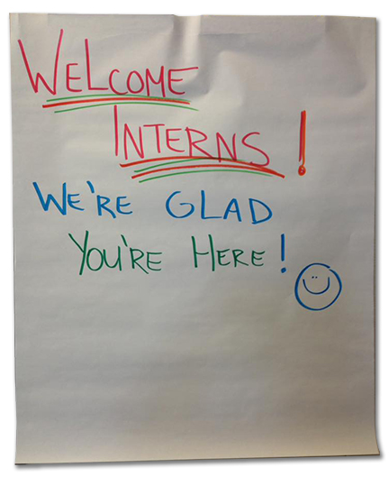 Welcome Interns Poster